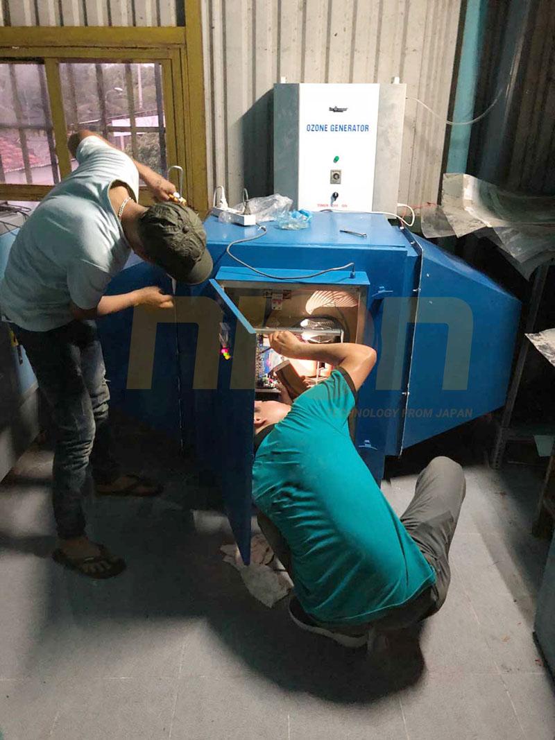 Lắp đặt hệ thống xử lý khí thải công ty bao bì