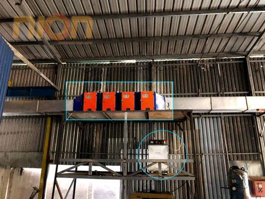 Hệ thống xử lý khí thải bằng máy lọc tĩnh điện và máy ozone công nghiệp